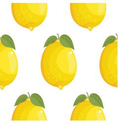 fresh large lemons background hand drawn icons vector image vector image