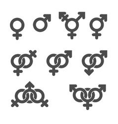 Gender symbol icons vector