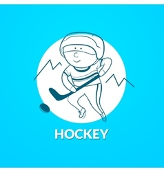 Hockey logo vector image vector image