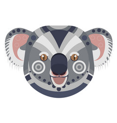 koala head logo exotic bear decorative vector image vector image