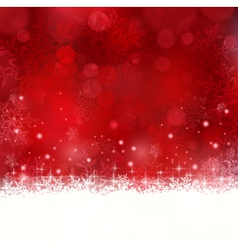Red Christmas background with snowflakes and stars vector image vector image