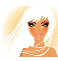 women face blond vector image