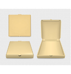 3d realistic blank brown craft paper closed vector image
