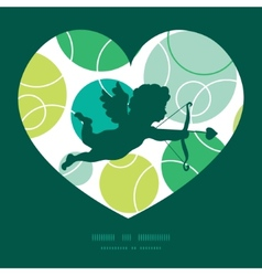 abstract green circles shooting cupid vector image