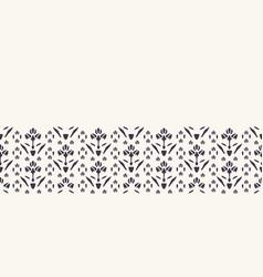 Art nouveau ornamental flower motif border vector