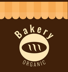 Bakery organic baguette brown background vector