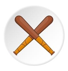 Baseball bats icon flat style vector