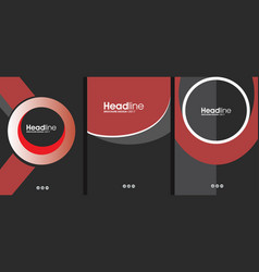 Black and red cover concept template for business vector