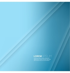 Blue abstract background with volume lines message vector image