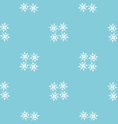 bluesimple geometric pattern with snowflakes vector image