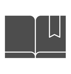 Bookmark with book solid icon read vector
