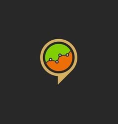 business graph economy talk bubble logo vector image