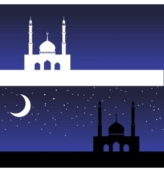 Card with mosque vector