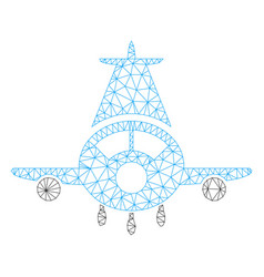 cargo plane polygonal frame mesh vector image