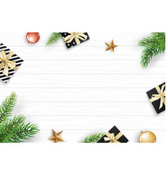 Christmas frame with copy space for text on white vector