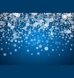 christmas frame with falling snow vector image