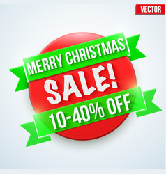 christmas sale badge and label vector image