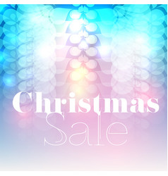 christmas sale flyerbackground vector image