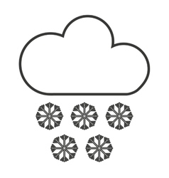 Cloud with snowflakes isolated icon design vector