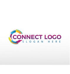 Connect logo creative logo tech logo vector
