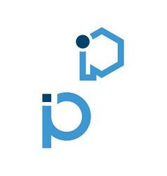 creative initial p letter p logo design graphic vector image