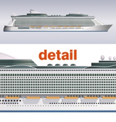 Cruise ship illustration vector