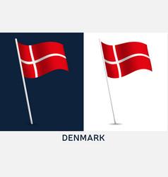 denmark flag waving national flag vector image