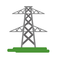 electric tower icon image vector image