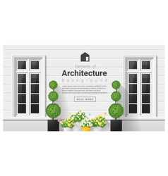 elements of architecture window background 19 vector image