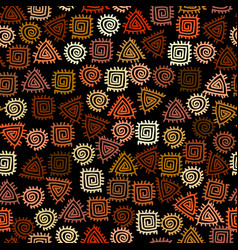 Ethnic seamless pattern in african style vector