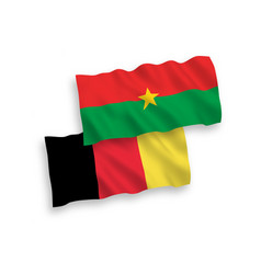 Flags belgium and burkina faso on a white vector