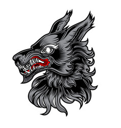 fox alone roker tattoo head vector image