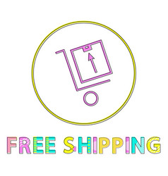 free shipping linear outline vector image