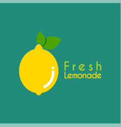 fresh lemon logo design template for your company vector image