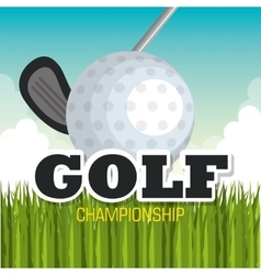 golf championship sport icon vector image