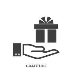 Gratitude glyph icon vector