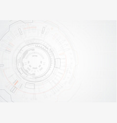 grey abstract geometric technology shape of vector image