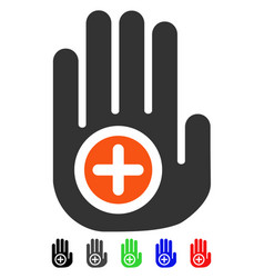 Hand medical marker flat icon vector