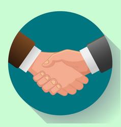handshake icon contract icon agreement icon vector image