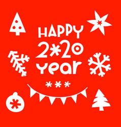 happy new 2020 year greeting card vector image