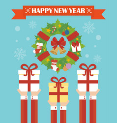 Happy new year modern concept flat design vector