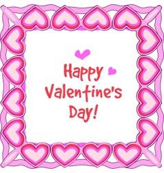 happy valentines border vector image