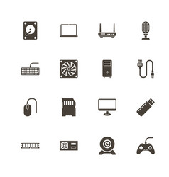 hardware - flat icons vector image