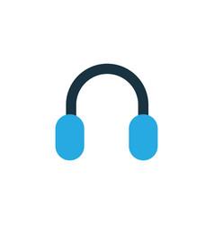 headphone colorful icon symbol premium quality vector image vector image