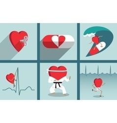 Heart health care motivation vector