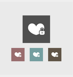 heart icon simple vector image