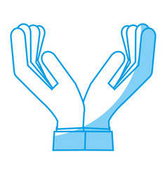 Human hands icon vector