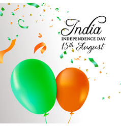 India independence day balloon celebration card vector