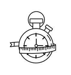 Line chronometer with meter to practice exercise vector