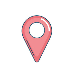Location symbol to seach in the map icon vector